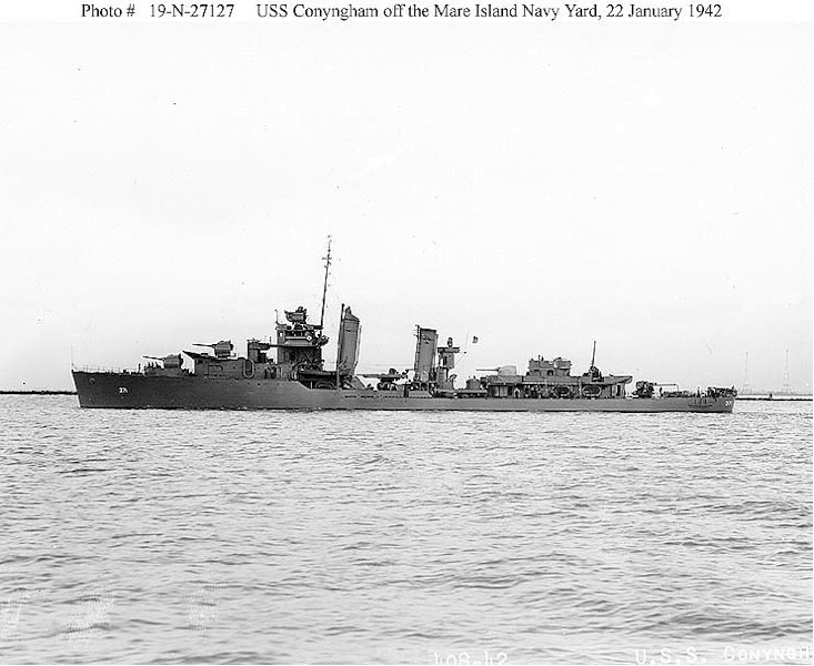 USN DESTROYERS CLASSE MAHAN 508123USSConyngham1942