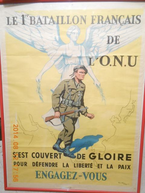 Affiche du Bataillon Français de l'Onu 513375DSCN3084