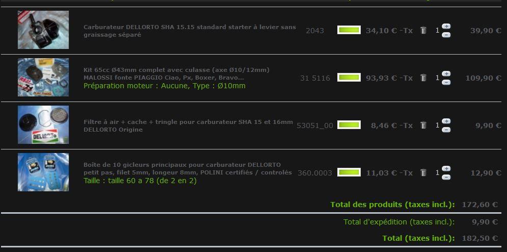 Avis pour kit 70 polini 519997Capture
