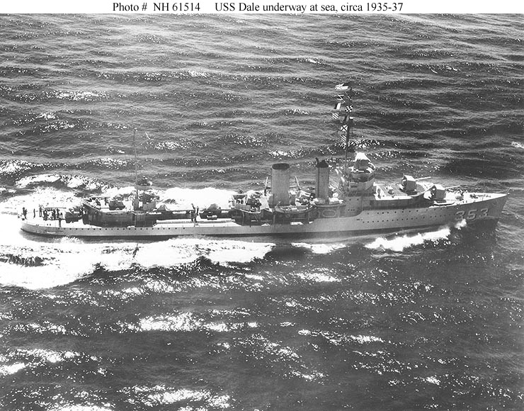 USN DESTROYERS CLASSE MAHAN 521075USSDale