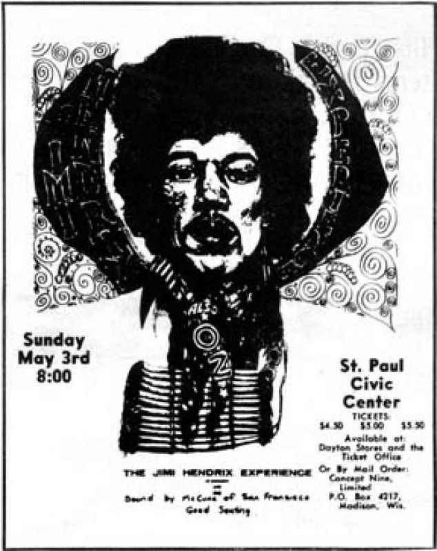 St Paul (St Paul's Civic Center) : 3 mai 1970   522019700305