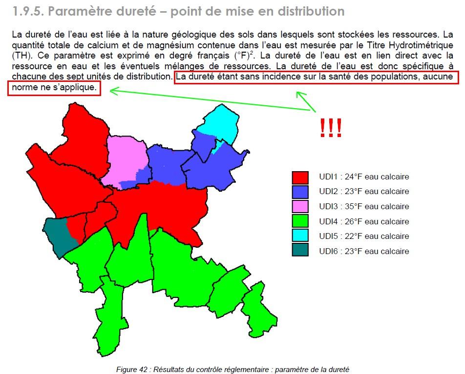 Résultats des analyses du contrôle sanitaire des eaux 522498Sanstitre5