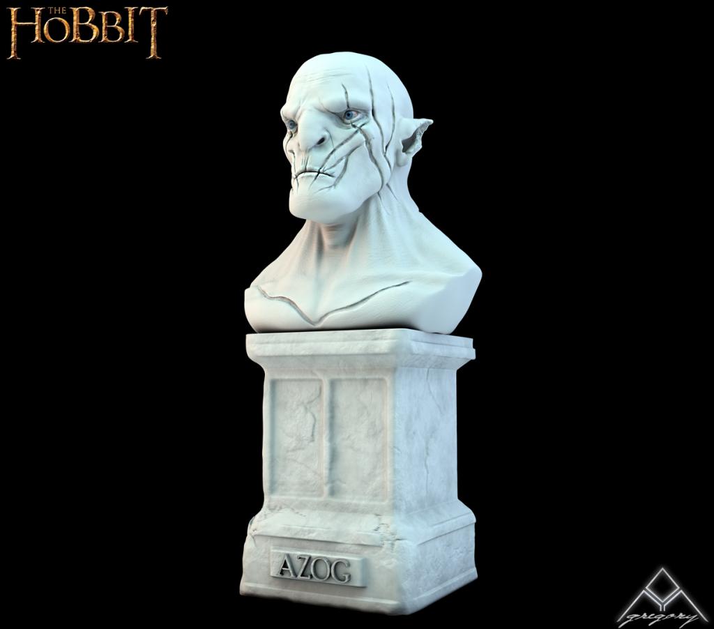 Azog de la saga Le Hobbit (Création 3D) par Greg_3D 525193AzogR16