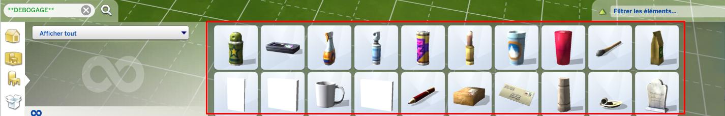 Trouver les objets cachés du jeu Les Sims 4 (le mode débogage / debug) 527533376