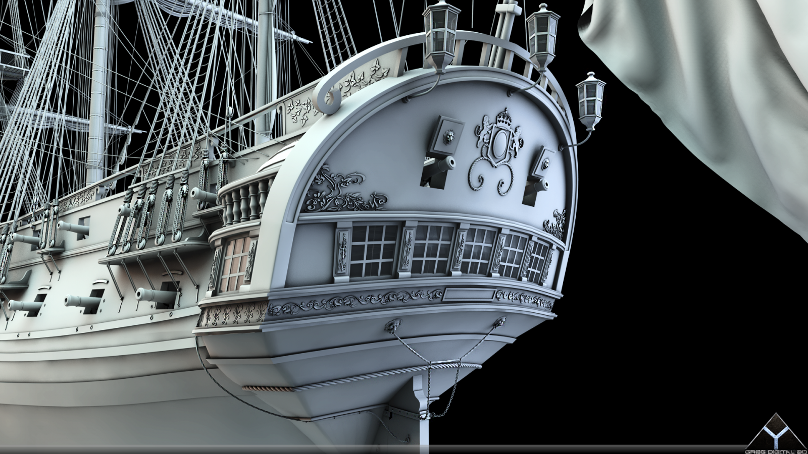 Frégate 36 canons XVIII° (Création 3D) par Greg_3D - Page 6 533308FrgatelightroomR16grosplan