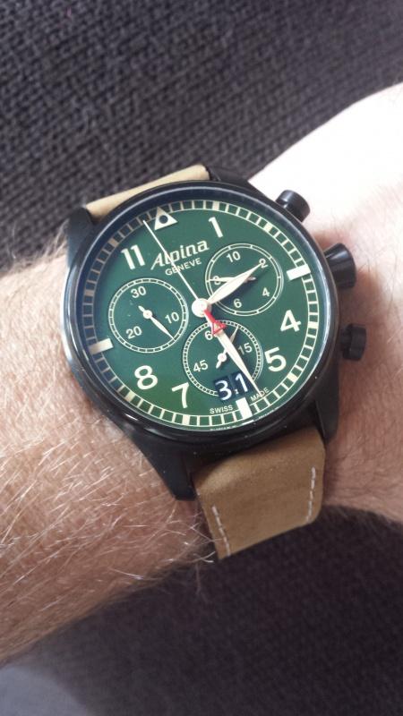 Alpina - ALPINA Startimer Pilot Big Date Chronograph Military  5343511
