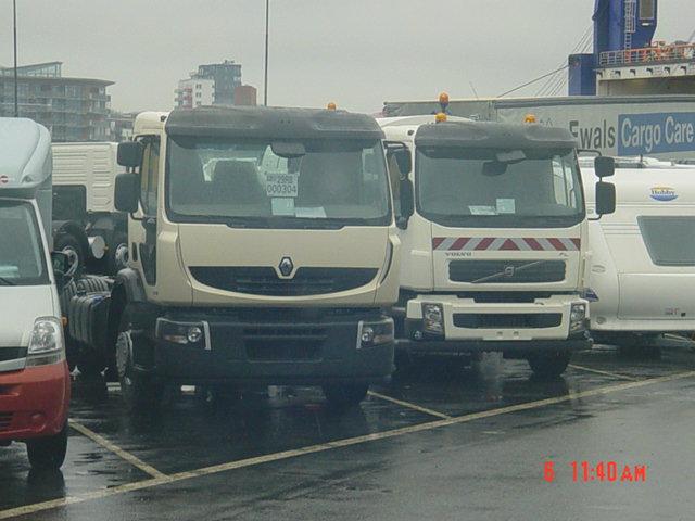 Volvo Renault sur le port de la Stena Line à Göteborg 541572news909190
