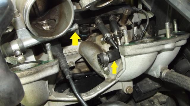 [BMW 316 i E36] Réparation d'une fuite d'essence moteur 54169322Duriteeau