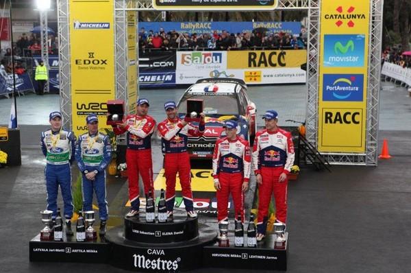 WRC Rallye d'Espagne 2012 :Victoire de Sébastien Loeb et Daniel Elena 5418042012rallyeespagnepodium