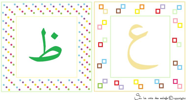 carte d'alphabet Arabe 5437079thoa3ain