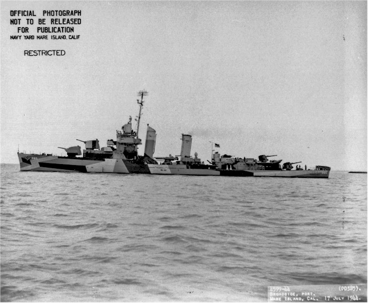 USN DESTROYERS CLASSE MAHAN 550492USSFanning17071944