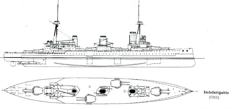 ROYAL NAVY CROISEURS DE BATAILLE CLASSE LION 555497HMS_Indefatigable_CT