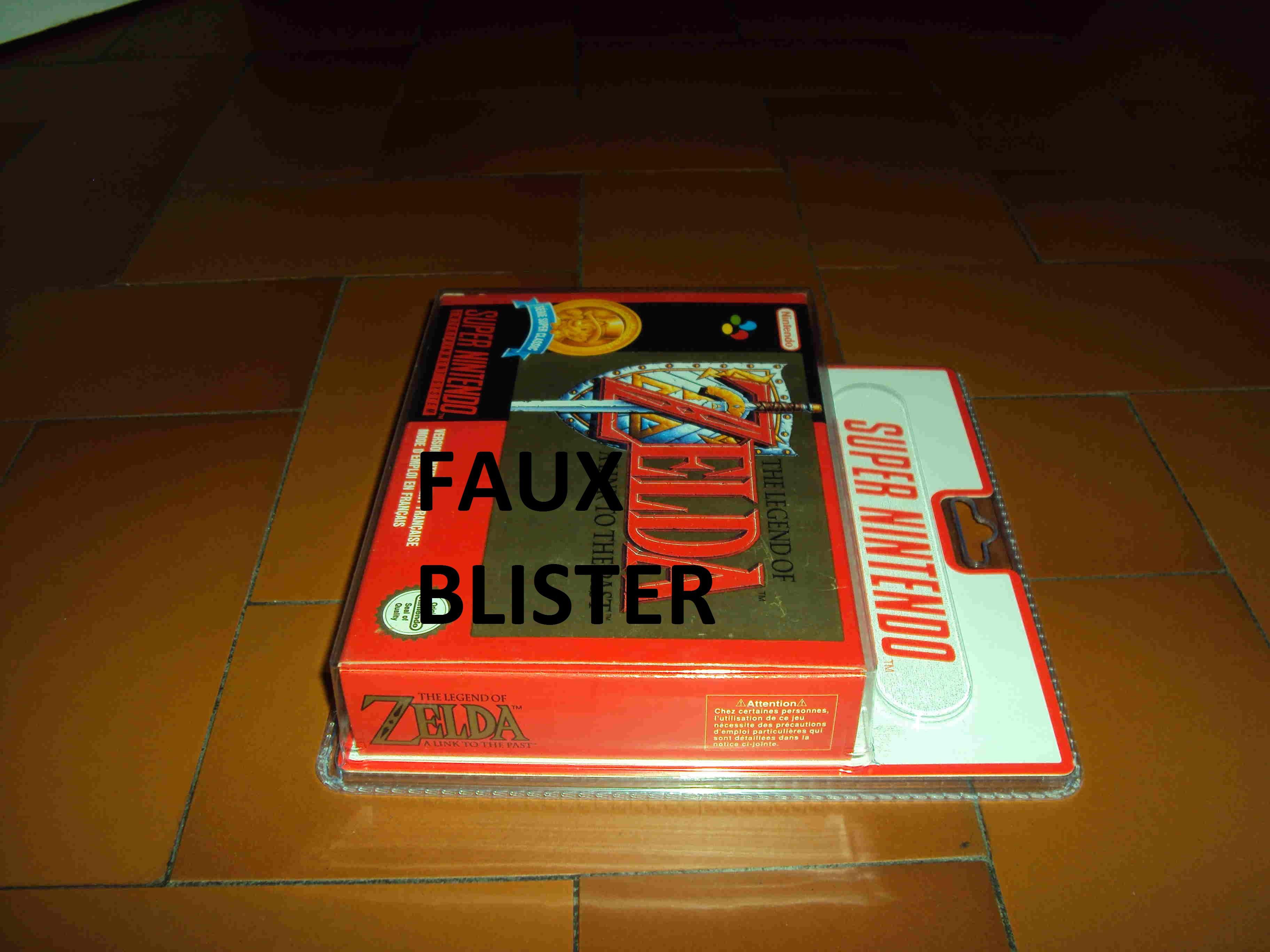 ALERTE A LA VIGILANCE --- FAUX BLISTER SNES 558554Zelda3ClassicsSide1