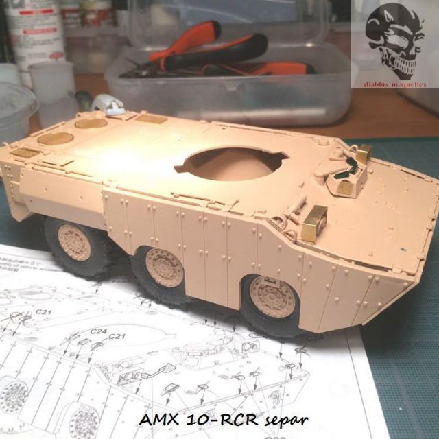 AMX 10 RCR SEPAR maquette Tiger Model 1/35 559083IMG3769