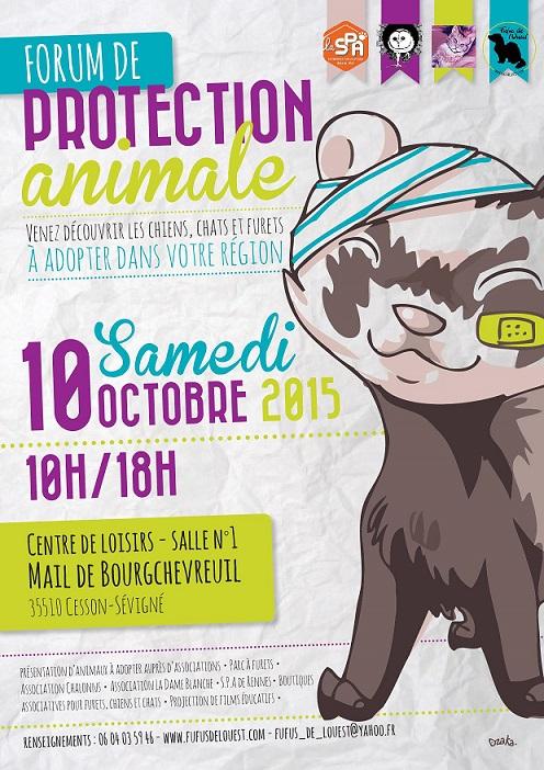 Petit forum de la Protection animale et 10 ans des Fufus de l'Ouest - 10/10/2015 563415affichePOFDLO2015petit