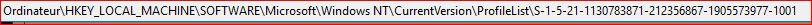 Windows s'ouvre sur une session temporaire 569538ProfileList2