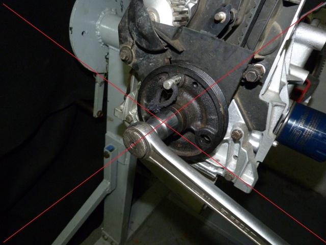 TUTO , remplacement kit distribution et pompe a eau 570555P1130846