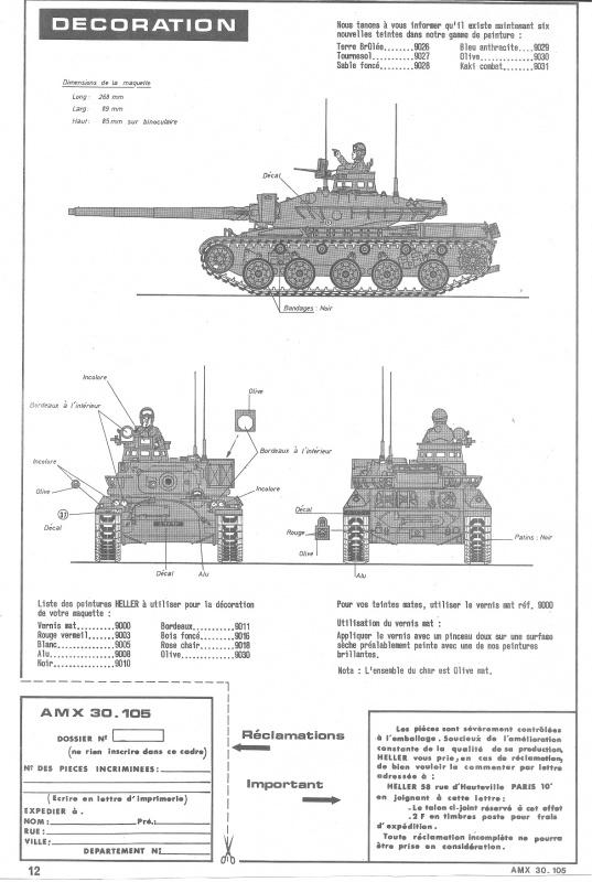 AMX 30 canon de 105 1/35ème Réf L 810 572530HellerAMX30105810012