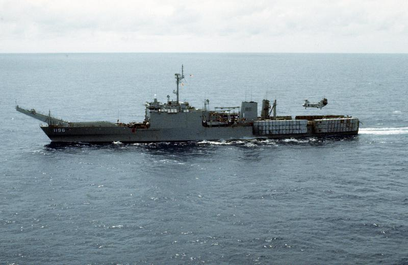 LANDING SHIP TANK (LST) CLASSE NEWPORT  577134USSHarlanCountyLST1196
