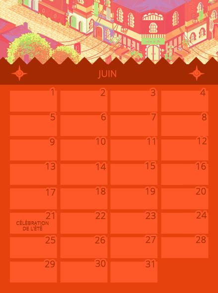 Calendrier de Juin 578880juin