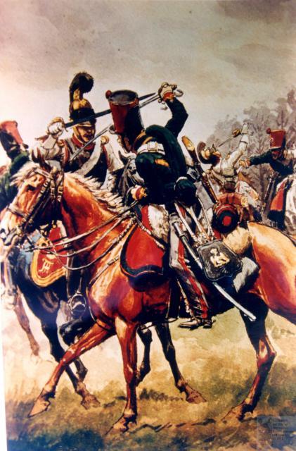 les tirailleurs à cheval de la Jeune Garde en 1815 578986CCGI27