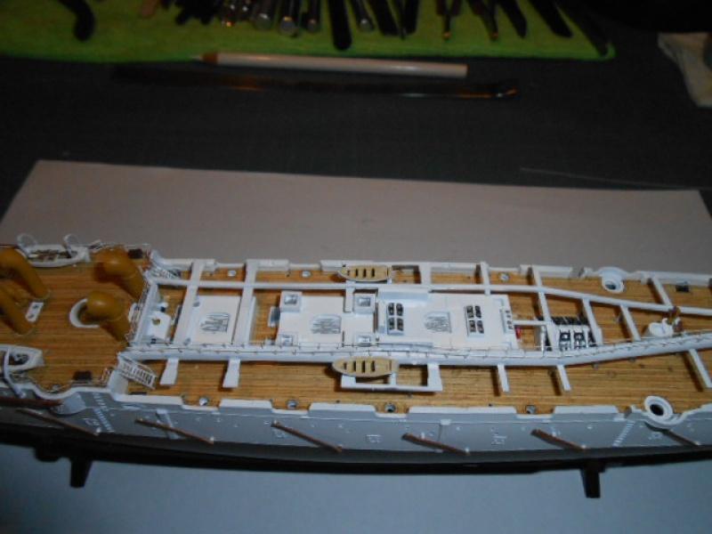 "Croiseur  Russe ""VARYAG"" Zvezda 1/350 pont en bois / PE  580406bat010"