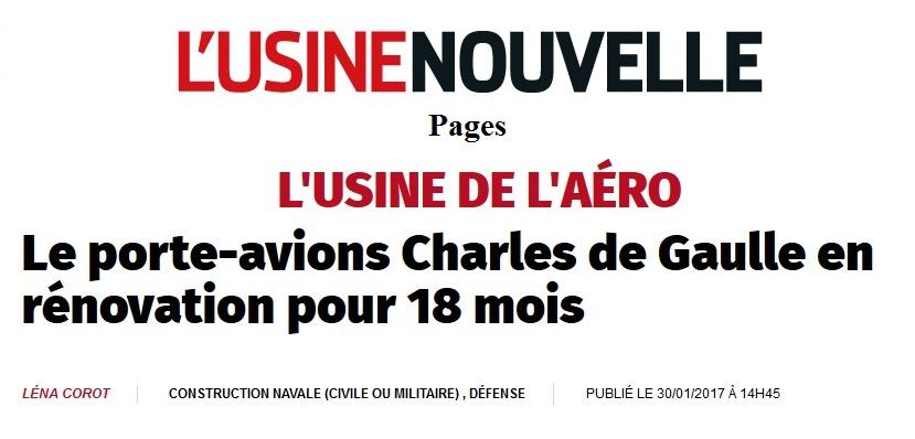 [ Porte-Avions Nucléaire ] Charles de Gaulle Tome 3 - Page 6 588841uSINENOUVELLE