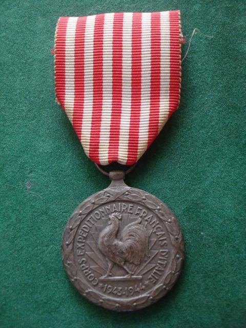 LES DÉCORATIONS AU CHOC 1943-1945. 603162CorpsexpditionnaireItalie
