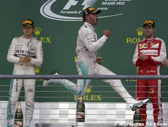 F1 GP des Etats-Unis 2015 (Qualifications et course) victoire et champion du monde Lewis Hamilton  6136612015Rosberghamiltonvettel