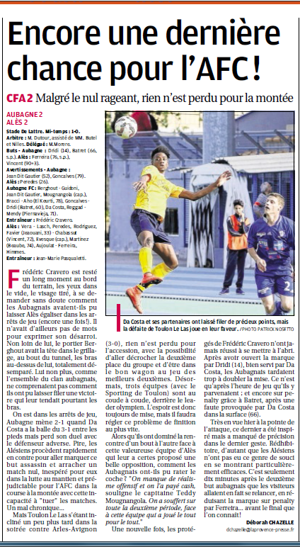 FC AUBAGNE // CFA2 GROUPE SUD EST  G - Page 21 624081515