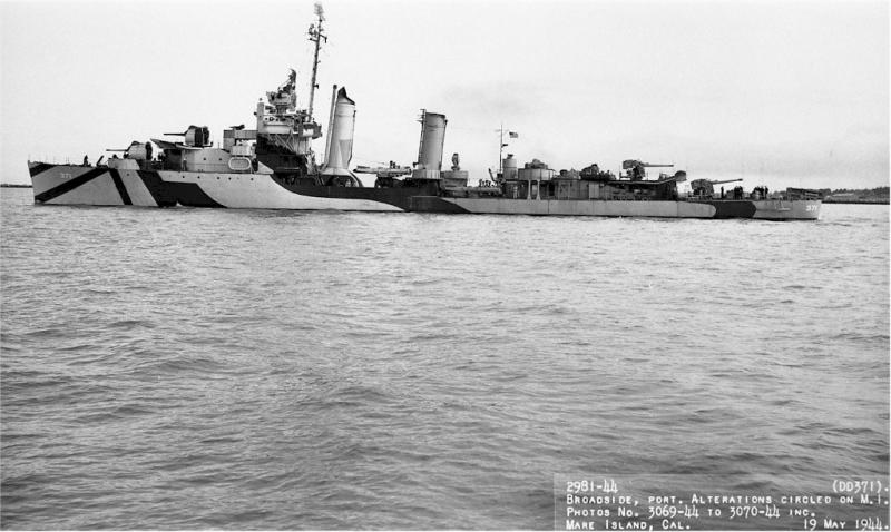 USN DESTROYERS CLASSE MAHAN 627695USSConyngham1944