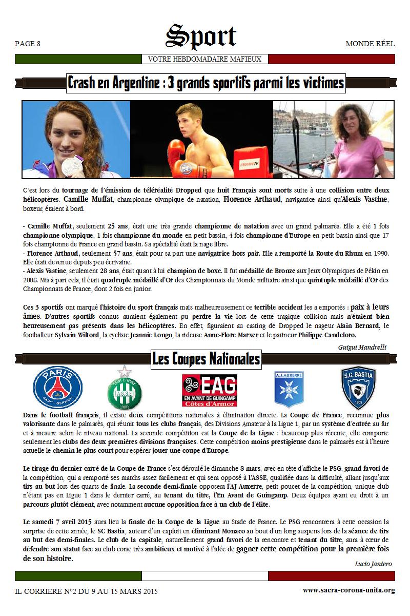 Il Corriere N°2 du 9 au 15 mars 2015 635819Sport