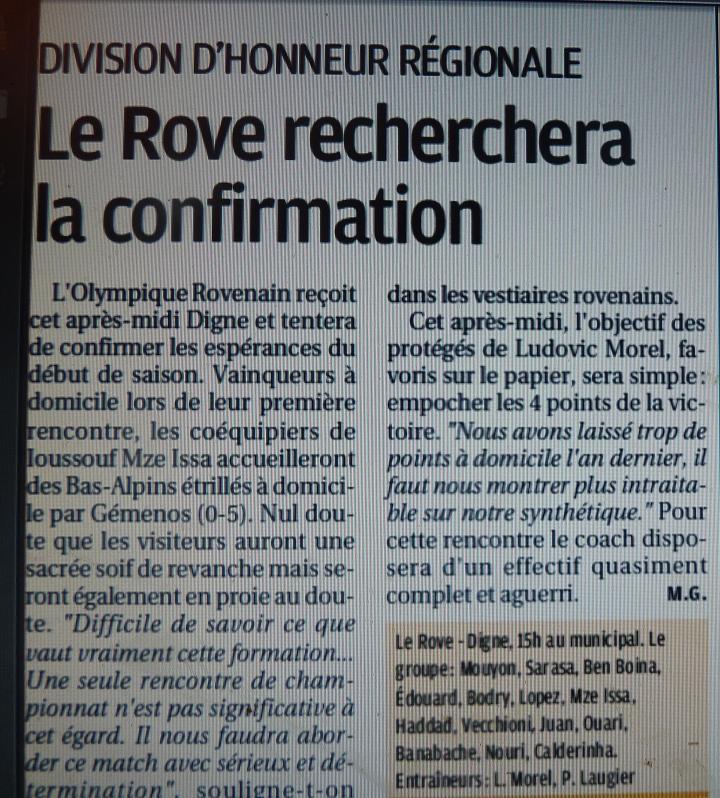 OLYMPIQUE ROVENAIS// DHR - Page 2 638688P1220550