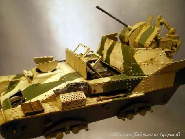 sd.kfz 140 flakpanzer (gépard) maquette Tristar 1/35 639697IMGP3093