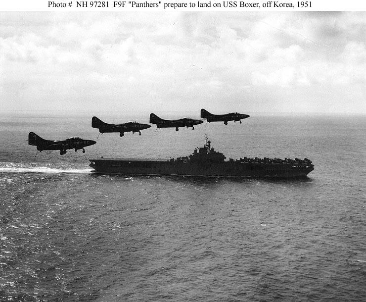 GRUMMAN F9F PANTHER  643385USS_Boxer_Panther_Coree_1951