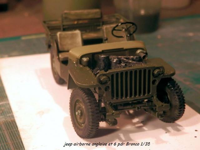 jeep indochine - 6 pdr ,jeep ,équipage airborne Bronco 1/35 (sur la route de Ouistreham) 686341P5030429