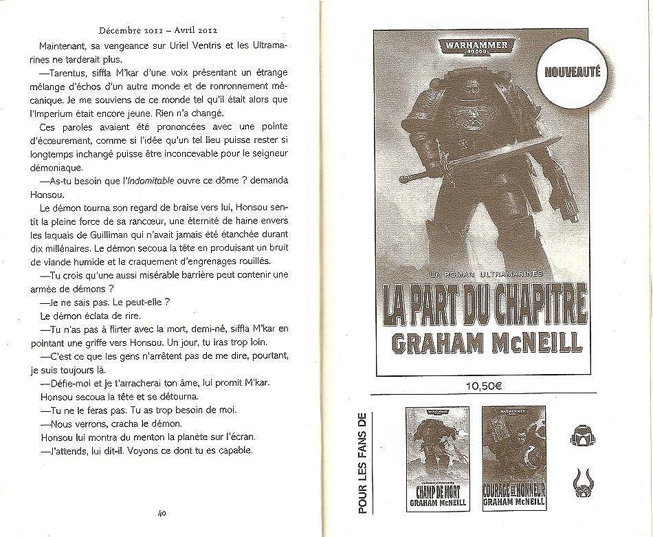 La Part du Chapitre (Uriel Ventris Tome 6) - Page 2 690134lapart2