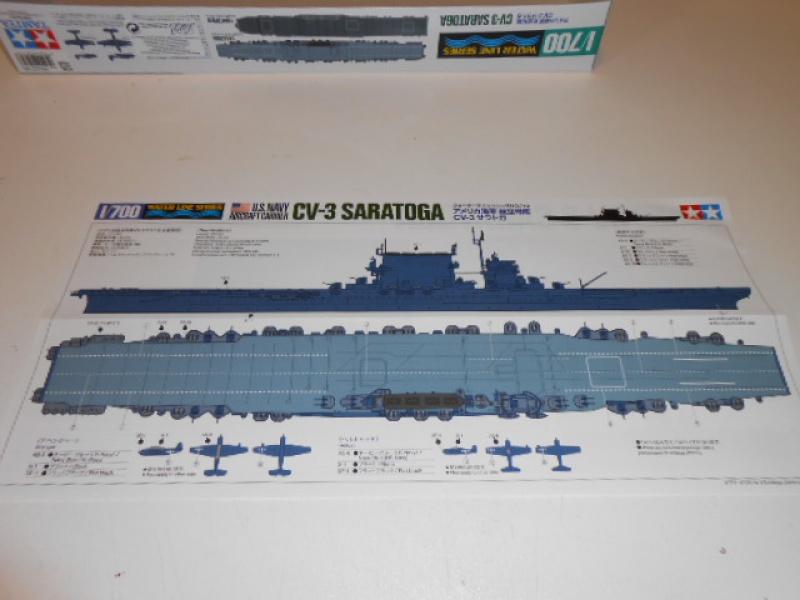 Saratoga CV3 au 1/700 de Tamiya par lionel 45 693533012