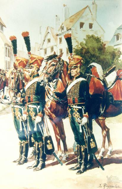 les tirailleurs à cheval de la Jeune Garde en 1815 693828CCGI25