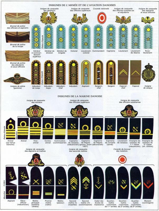 *Les insignes de l'armée Danoise 697143DanAtAv