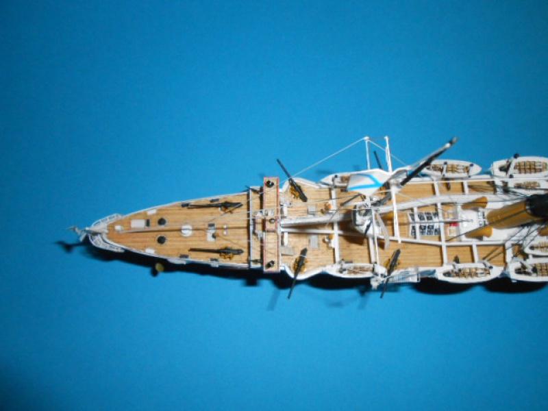 """Croiseur Russe """"VARYAG"""" 1/350 PE + Pont en bois de chez Zvezda 697637Croiseur009"""