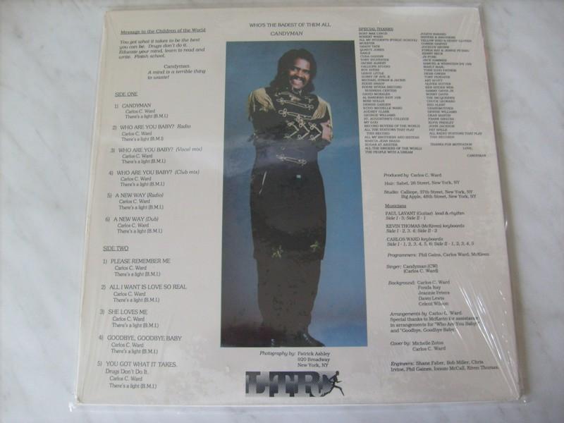 LP-CARLOS C WARD-THE CANDYMAN-88-LTR REC 698799ca2