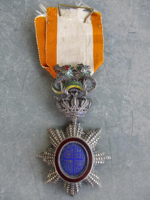 Médaille de Chevalier du Dragon d'Annam avec une belle attribution 714115IMG0851