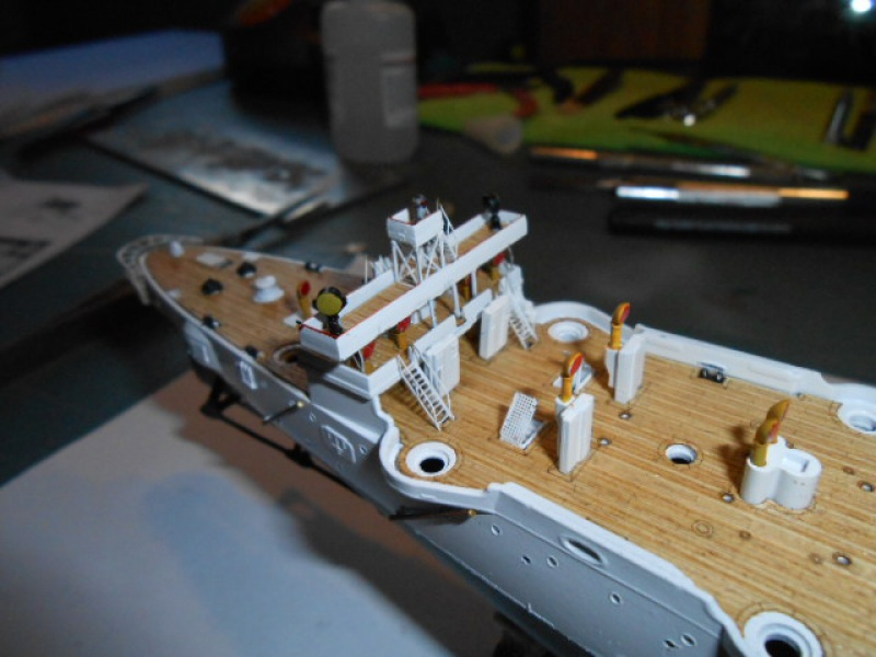 "Croiseur  Russe ""VARYAG"" Zvezda 1/350 pont en bois / PE  715927bat006"
