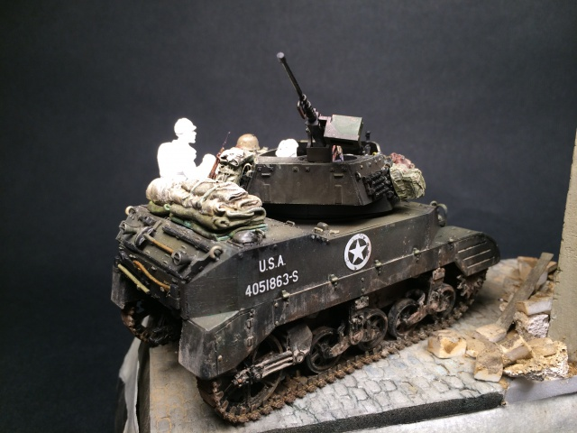 """""""Le laxatif"""" - M8 Howitzer unité """"Hell on Wheels"""" - 2nd Armored division, Normandie - Tamiya 1/35 718023IMG3480"""