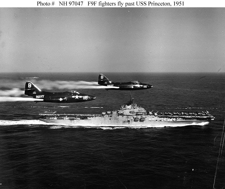 GRUMMAN F9F PANTHER  723765USS_Princeton_Panther_1951