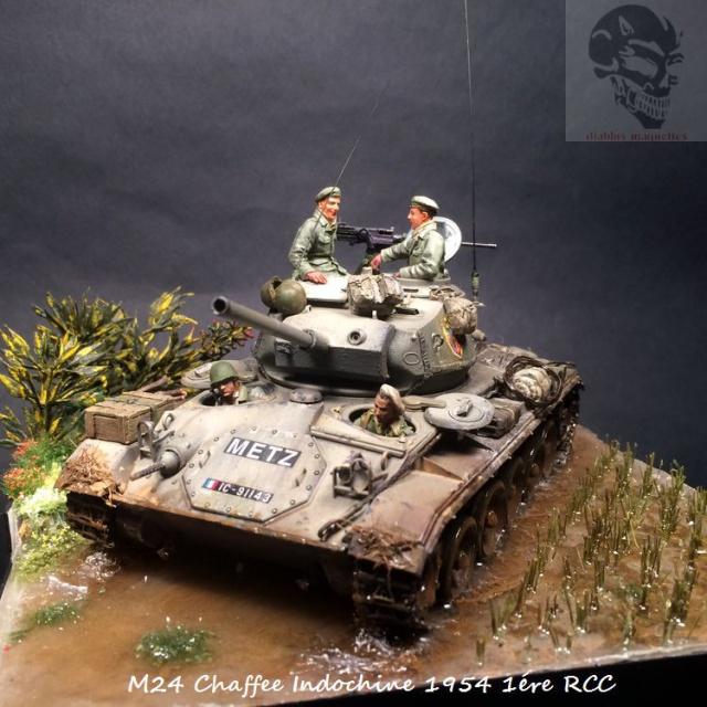 M24 Chaffee Indochine 1954 1ére RCC  728345IMG3737