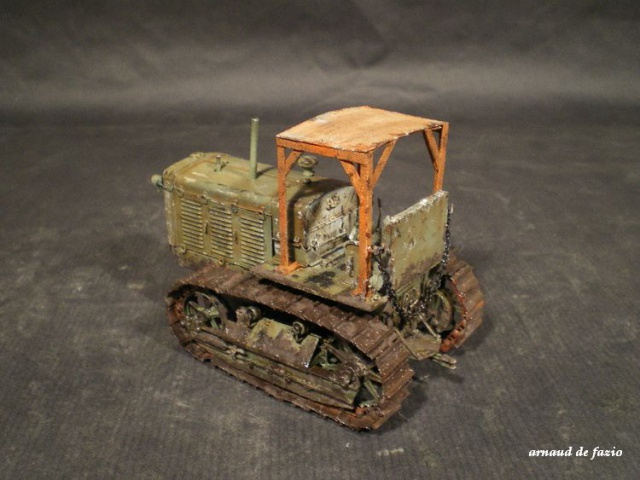 tracteur d artillerie soviétique chtz s-65 version allemande 1/35 trumpeter,tirant 2 blitz de la boue 741920IMGP1857