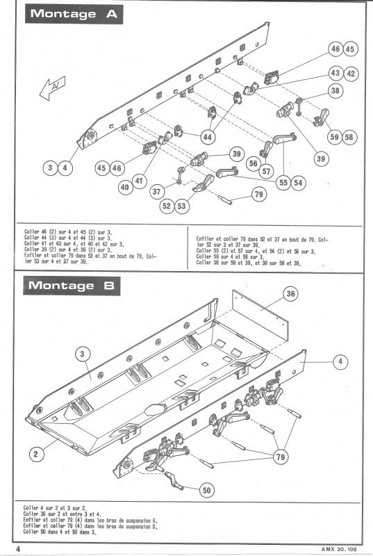 AMX 30 canon de 105 1/35ème Réf L 810 742106HellerAMX30105810004