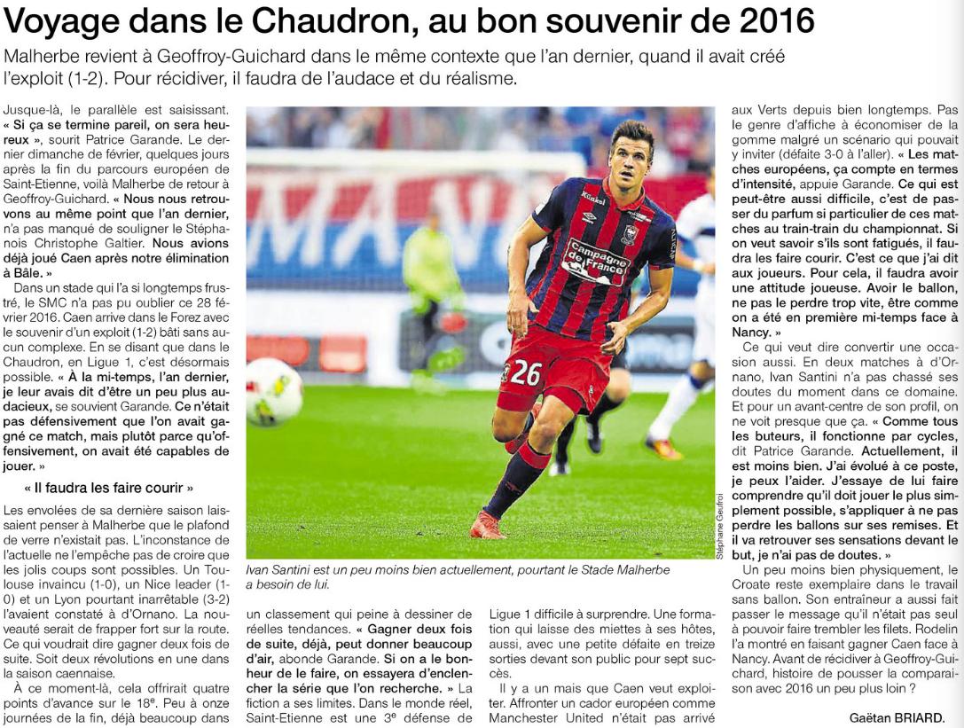 [27e journée de L1] AS Saint Etienne 0-1 SM Caen 742168verts